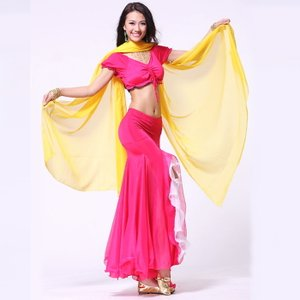 ダンス衣装 ベリーダンス衣装 セットアップ 赤  cy187-3|mika