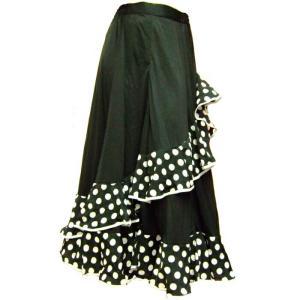 フラメンコ衣装 セール 薔薇 セットアップ スカート カシュクールトップス ダンス衣装 バラ柄 ドット ミカドレス F42T36 f42-1t36-1|mika
