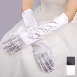 パーティードレス グローブ 手袋 ロングドレス 披露宴 結婚式 クラシック リボンアクセが超かわいい!!  黒 白 ダンス衣装 ミカドレス 8649-2 mika