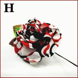 スペイン製 フラメンコ 大輪バラコサージュ 水玉 葉っぱ付き フラメンコ衣装にぴったり 髪飾り ヘアアクセサリーミカドレス sky2-h|mika