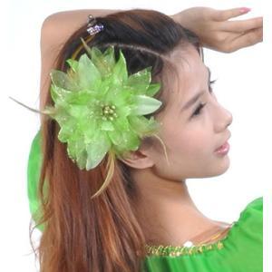 スペイン製 フラメンコ 大輪バラコサージュ 水玉 葉っぱ付き フラメンコ衣装にぴったり 髪飾り ヘアアクセサリーミカドレス sky2-i|mika