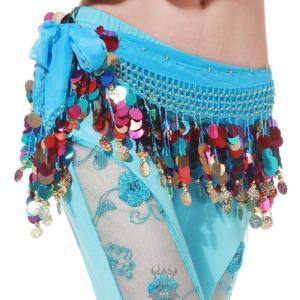 ベリーダンス ヒップスカーフ ベリーダンス 衣装 高級感漂うベロア素材 ゴールドコインタイプ ミカドレス  cy105-1|mika