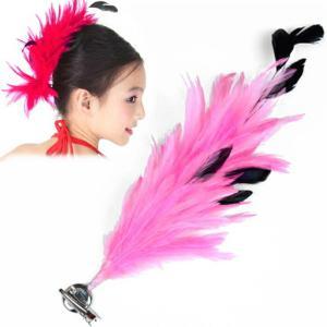 スペイン製 フラメンコ 大輪バラコサージュ 水玉 葉っぱ付き フラメンコ衣装にぴったり 髪飾り ヘアアクセサリーミカドレス sky2-j|mika