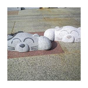 車止め 招き猫デザイン 高級御影石 りょう石|mikage|02