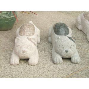 車止め 猫デザイン 高級御影石 りょう石|mikage|02