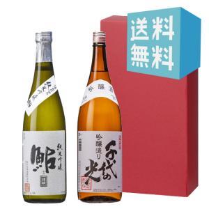 お中元 御中元 プレゼント ギフト 日本酒 鮎正宗 銀ラベル・千代の光 吟醸造り 720ml 2本セット|mikami-saketen