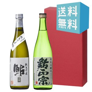 お中元 御中元 プレゼント ギフト 日本酒 鮎正宗 銀ラベル・鮎正宗 特別本醸造 720ml 2本セット|mikami-saketen