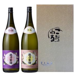 日本酒 お酒 プレゼント ギフト 飲み比べ 越乃寒梅飲み比べ! 無垢(純米大吟醸)・特撰(吟醸)セット 1800ml|mikami-saketen