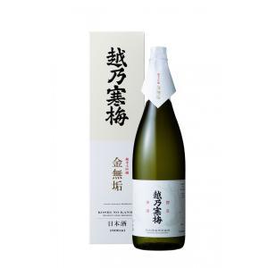 (一升瓶タイプ・年に一度の限定入荷)越乃寒梅 金無垢 純米大吟醸 1800ml 化粧箱付 mikami-saketen
