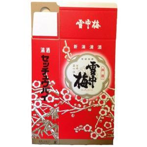 雪中梅 1800ml 2本用 化粧箱|mikami-saketen