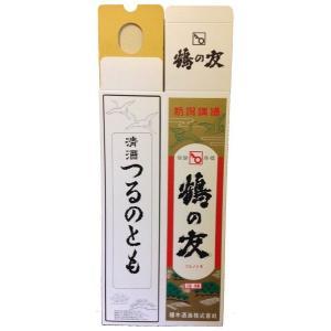 鶴の友 1800ml 1本用 化粧箱|mikami-saketen