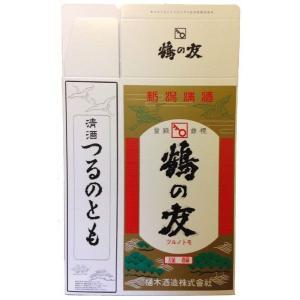 鶴の友 1800ml 2本用 化粧箱|mikami-saketen