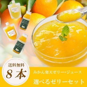 選べるみかん寒天ゼリー ゼリー2種+ジュース4本セット 送料無料|mikan-hana