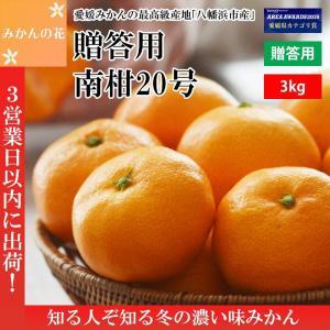 みかん お歳暮 ギフト 送料無料 秀品 3kg 南柑20号 送料無料 【予約】|mikan-hana