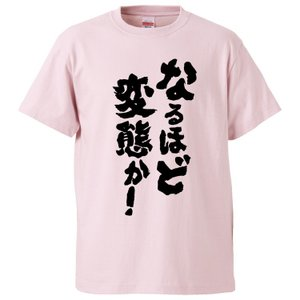 おもしろTシャツ なるほど変態か!  ギフト プレゼント 面白 メンズ 半袖 無地 漢字 雑貨 名言...