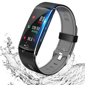 スマートウォッチ 血圧計 Semiro スマートブレスレット 心拍計 活動量計 歩数計 消費カロリー カラースクリーン IP67防水 着信/