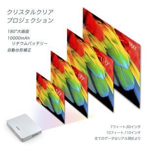 iCODIS RD-813 プロジェクター 小型 3000ルーメン ネイティブHD解像度 10000:1のコントラスト比 10000mAhバ|mikannnnnn