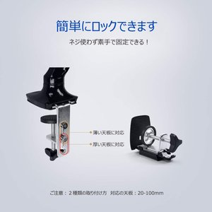 FLEXIMOUNTS ガススプリング式液晶ディスプレイアーム モニターアーム 4軸 10-27インチ 1.5-5kg対応 M01…|mikannnnnn