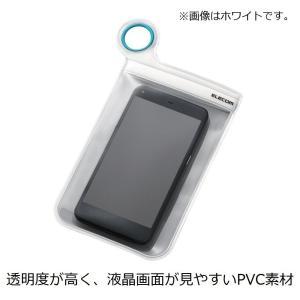 ELECOM スマートフォン用防滴ケース 汎用 XLサイズ iPhone6s/6s Plus対応 ブラック P-03DPBK|mikannnnnn
