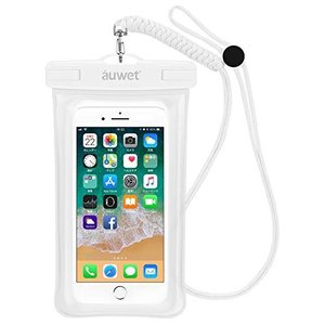 防水ケース Auwet指紋認証対応iPhone X/8/7/6/Plus 水面上にフローティング 海水浴 潜水 お風呂 水泳 砂浜 水遊びな|mikannnnnn