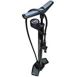 ガレージ・ゼロ(Garage Zero) 自転車空気入れ フロアポンプ/鉄製・クレバー搭載・上部ゲージタイプ仏式・米式・英式バルブ対応/最大|mikannnnnn