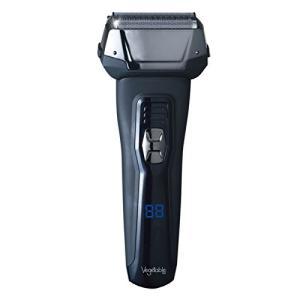 髭剃り 電気シェーバー Vegetable 3枚刃 充電交流式ウォッシャブルデジタルシェーバー GD-S307D|mikannnnnn