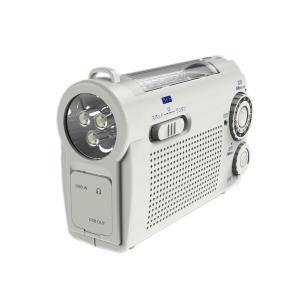 WINTECH 手回し充電AM/FMラジオライト(FMワイドバンド対応) ホワイト KDR-107W