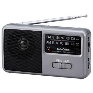 OHM AM/FM コンパクトポータブルラジオ RAD-F1771M|mikannnnnn