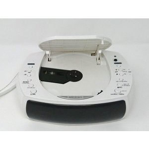 WINTECH CDクロックラジオ ラジオ対応/CD再生/デュアルアラーム機能搭載時計/FMワイドバンド対応 ホワイト CDC-220|mikannnnnn