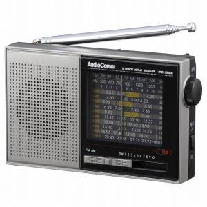 AudioComm AM/FM/SW ハンディ短波ラジオ 品番07-7928 RAD-S520N|mikannnnnn