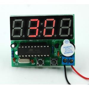 自作 DIY LED デジタル 置き 時計 電子 工作 組立 キット シンプル タイプ|mikannnnnn