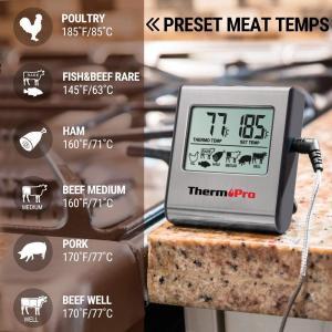 ThermoProデジタル クッキング キッチン 肉 温度計 BBQ グリル オーブン 燻製に適用 ...