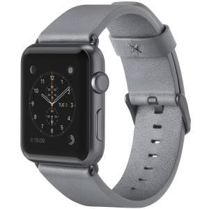belkin Apple Watch用(シリーズ1,2,3,4)レザーバンド 38mm イタリアンレザー 牛革 グレイ 国内正規品 F8W7|mikannnnnn