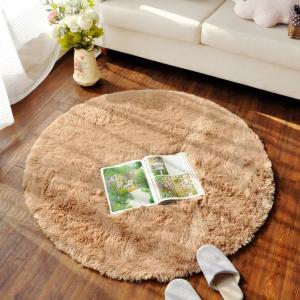 床暖房 丸い 円形 ラグ 滑り止め付き 丸洗い 折り畳み可 直径80~160cmマット カーペット 防音絨毯 低反発|mikannnnnn