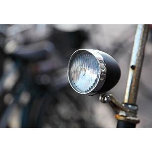Richair レトロ フロントライト クラシック 砲弾型 自転車 電池式 3LED|mikannnnnn