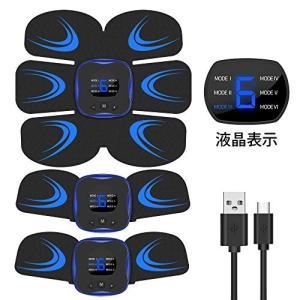 Vaculim EMS 腹筋ベルト 液晶表示 USB充電式 腹筋 腕筋 筋トレ器具 トレーニングマシーン 「6種類モード 9段階強度 日本語|mikannnnnn