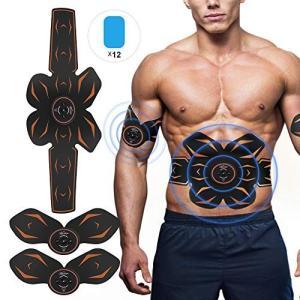 腹筋ベルト EMS 腹筋パッド Openuye最新アップグレード版腹筋トレーニング 腹筋 腕筋 多部位 6モード 9段階強度 シックスパッド|mikannnnnn