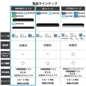 シャープ AQUOS ブルーレイレコーダー 1TB 2チューナー BD-WW1200|mikannnnnn