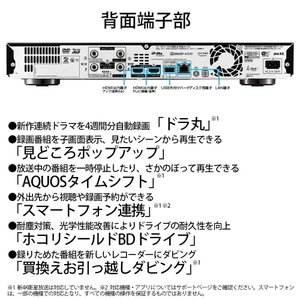 シャープ AQUOS ブルーレイレコーダー 2TB 3チューナー 4Kチューナー内蔵 Ultla HDブルーレイ対応 4B-C20AT3|mikannnnnn