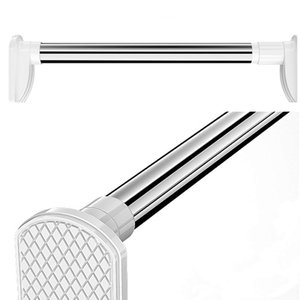 突っ張り棒 つっぱり棒 室内物干し 浴室用ステンレ用品 耐荷重1~50kg 多機能強力太タイプ お風呂 付日本語説明書 (50-80cm)|mikannnnnn