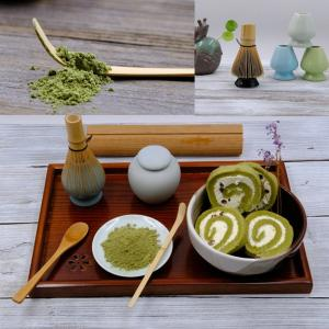 3点セット :100本立茶筅 茶杓 くせ直し(茶筅置き) (?)|mikannnnnn