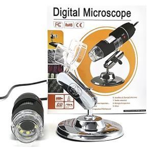 YOMYM デジタル顕微鏡 ポータブル WiFi スマホ usb パソコン 対応 顕微鏡 拡大鏡 カメラ 8 LEDデジタル1000 X 1|mikannnnnn
