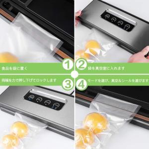 真空パック器 シーラー Toyuugo 乾湿/ソフト/脆い四つモード 手動吸引機能 フード脱気 真空調理 PSE認証済 ステンレス製 食品保|mikannnnnn