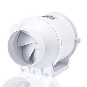 (ホン&ガーン)Hon&Guan ダクト用換気扇 産業用排風機 中間取付 ダクトファン 丸形タイプ 100mm HF-100S mikannnnnn