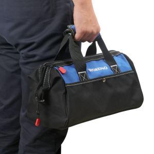 WORKPRO ツールバッグ 工具差し入れ 道具袋 工具バッグ 大口収納 600Dオックスフォード ...