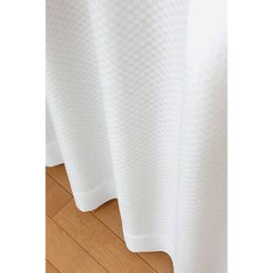 ユニチカ サラクール 夜も透けにくい ミラーレースカーテン 幅100cm×丈183cmの2枚組