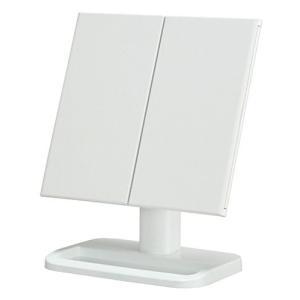 永井興産 メイクアップミラー 三面鏡 ホワイト NK-242(WH)
