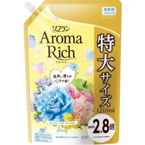 大容量ソフラン アロマリッチ 柔軟剤 フェアリー(ウォータリーフラワーアロマの香り) 詰め替え 1210ml