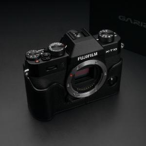 GARIZ FUJIFILM X-T10用 本革カメラケース Gun Shot Ring付 XS-CHXT10BK ブラック|mikannnnnn