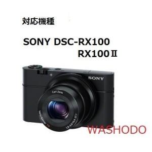 和湘堂 SONY DSC-RX100、RX100II デジタルカメラ用 合成革ケース NEW 2色「510-0026-0」 (ブラック)|mikannnnnn